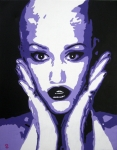 Purple Artwork Mixed Media Posters - Gwen Stefani Poster by Venus