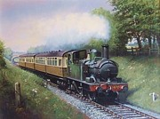 Nostalgia Paintings - GWR 0.4.2T engine. by Mike  Jeffries