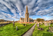 Graveyard Digital Art Prints - Gwyddelwern Church Print by Adrian Evans