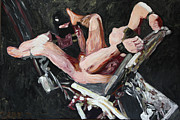Homo-erotic Paintings - Gyn Chair - Der Stuhl - 2561 by Lars  Deike