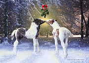 Gypsy Vanner Digital Art - Gypsy Foals and Mistletoe by Feathered Gold Stables