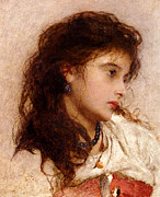 Vintage Images Prints - Gypsy Girl Print by George Elgar Hicks