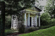 Lake Framed Prints - H C Ford Mausoleum Framed Print by Tom Mc Nemar