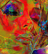 Modern Digital Art Originals - H3ad Sh0ts 5 by Byron Fli Walker