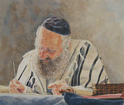 Scribe Paintings - Ha Sofer by Kathy Morris