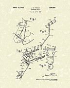 Thomas Drawings - Hackamore Bridle 1953 Patent Art by Prior Art Design