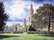 Crisp Digital Art Posters - Hadlow Tower Poster by Steve Crisp