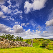 Northumberland Prints - Hadrians Wall at Walltown Crags Print by Colin and Linda McKie