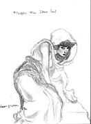 Religion Drawings - Hagar the slave Girl by Patricia Wilhelm