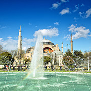 Medieval Temple Framed Prints - Haghia Sophia Fountain 02 Framed Print by Antony McAulay