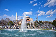 Medieval Temple Art - Haghia Sophia Fountain by Antony McAulay