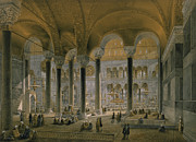 Haghia Sophia, Plate 6 The North Nave Print by Gaspard Fossati