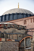 Medieval Temple Framed Prints - Hagia Sofia close up Framed Print by Antony McAulay