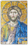 Iconography Photos - Hagia Sofia Jesus mosaic by Antony McAulay