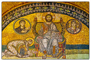 Byzantine Icon Photos - Hagia Sofia mosaic 04 by Antony McAulay