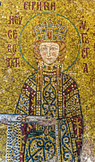 Byzantine Icon Photos - Hagia Sofia mosaic 06 by Antony McAulay