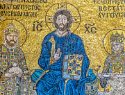 Byzantine Icon Photos - Hagia Sofia mosaic 09 by Antony McAulay