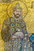 Byzantine Icon Photos - Hagia Sofia mosaic 10 by Antony McAulay