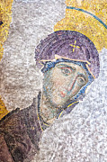 Byzantine Icon Photos - Hagia Sofia mosaic 11 by Antony McAulay