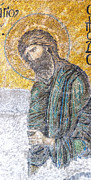 Greek Icon Photo Posters - Hagia Sofia mosaic 12 Poster by Antony McAulay