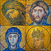 Byzantine Icon Photos - Hagia Sofia mosaics by Antony McAulay