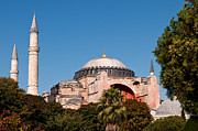 Haghia Sophia Mosque Prints - Hagia Sophia Blue Sky 01 Print by Rick Piper Photography