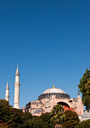 Haghia Sophia Mosque Prints - Hagia Sophia Blue Sky 02 Print by Rick Piper Photography