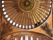 Haghia Sophia Mosque Prints - Hagia Sophia Dome 02 Print by Rick Piper Photography