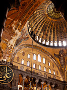 Haghia Sophia Mosque Prints - Hagia Sophia Dome 03 Print by Rick Piper Photography