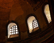 Haghia Sophia Mosque Prints - Hagia Sophia Dome Windows Print by Rick Piper Photography