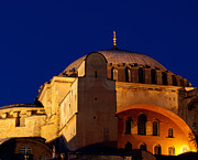 Haghia Sophia Mosque Prints - Hagia Sophia Evening Print by Rick Piper Photography