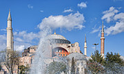 Byzantine Framed Prints - Hagia Sophia fountain Framed Print by Antony McAulay