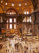 Haghia Sophia Mosque Prints - Hagia Sophia Interior 04 Print by Rick Piper Photography