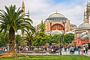 Hagia Sophia Photo Framed Prints - Hagia Sophia Istanbul 2013 Framed Print by Lutz Baar
