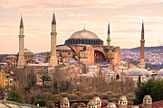 Hagia Sophia Mosque - Istanbul Print by Luciano Mortula