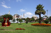 Aya Sofya Prints - Hagia Sophia Museum and Gardens Istanbul Print by Robert Preston