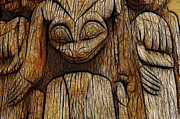 Charlotte Photo Prints - Haida Totem Print by Bob Christopher