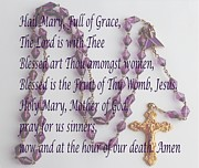 Mother Mary Digital Art - Hail Mary - Prayer to Mary Mother of God by Barbara Griffin