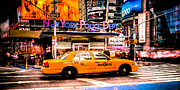 Midtown Framed Prints - Hailing a Cab Framed Print by David Hahn