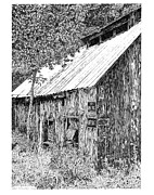 New York State Drawings - Haines Falls Sap House by Paul Kmiotek