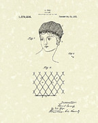Net Drawings Posters - Hair Net 1921 Patent Art Poster by Prior Art Design