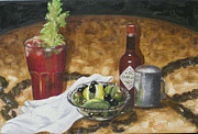 Brunch Paintings - Hair Of The Dog by Ruthe Dawes