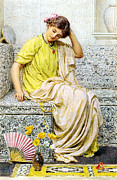 Divan Prints - Hairpins Print by Albert Joseph Moore