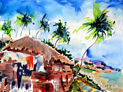 Cap Painting Originals - Haiti Hut by John Dunn