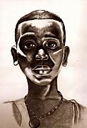 Haiti Drawings - Haitian Boy by Dallas Roquemore