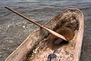 Hand Crafted Art - Haitian Dugout Canoe by Anna Lisa Yoder