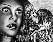 Red Eye Drawings - Haleys Apparition by Peter Piatt