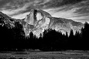Cloudy Photo Prints - Half Dome Print by Cat Connor