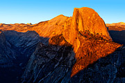 Half Dome Photos - Half Dome Glow II by Peter Tellone