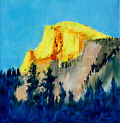 Half Dome Painting Prints - Half Dome Light Print by Carol Bower